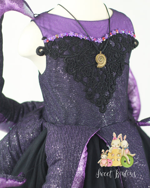 Ursula inspired Sea Witch Girl Dress