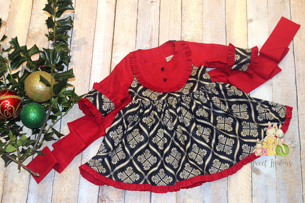 Red/Black Holiday Dress Size 3/4