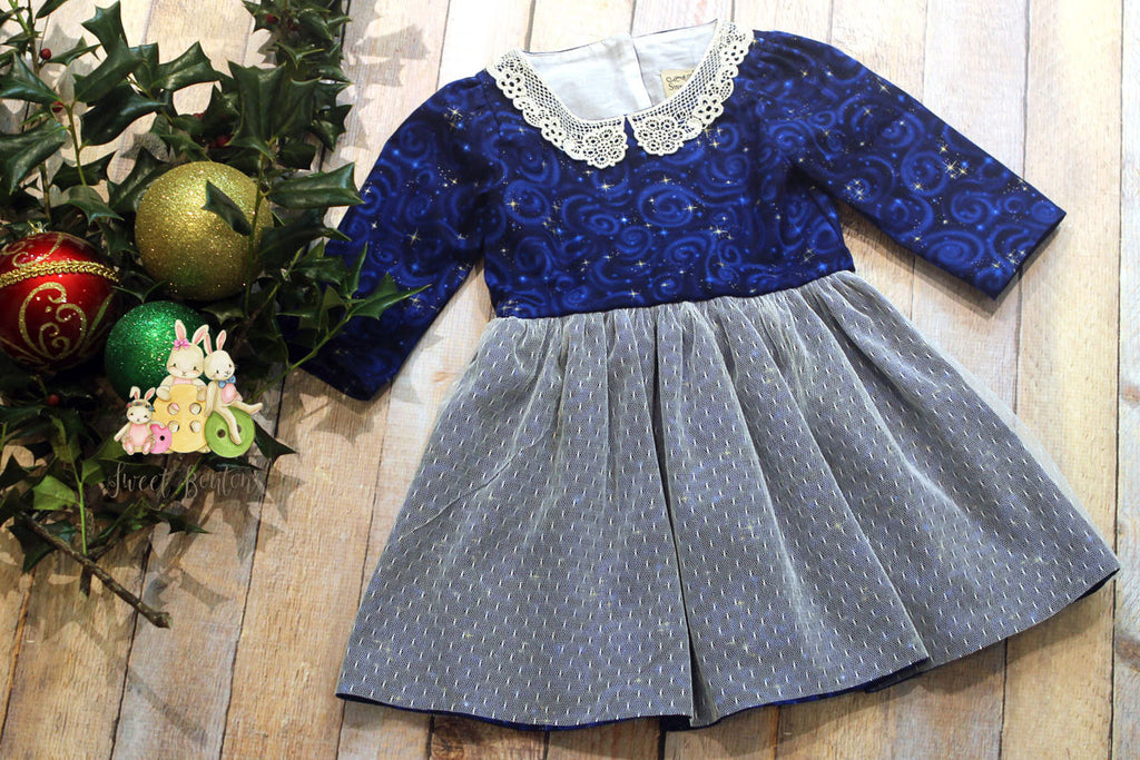Blue Holiday Dress Size 3t