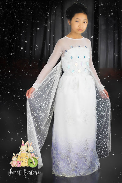 Ice Queen Winter White Dress