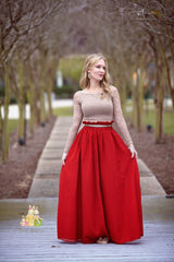 Pretty in Red Maxi Skirt