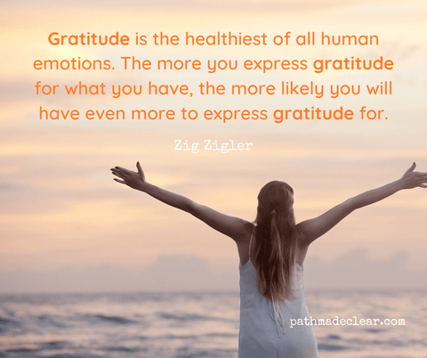 Gratitude is the healthiest of all human emotions. The more you express gratitude for what you have, the more likely you will have even more to express gratitude for.