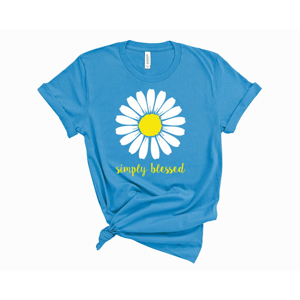 Simply Blessed T-Shirt Aqua - Path Made Clear