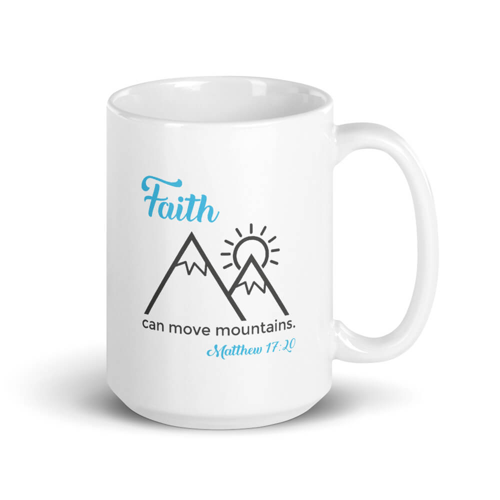 Faith Can Move Mountains Large Mug - Path Made Clear