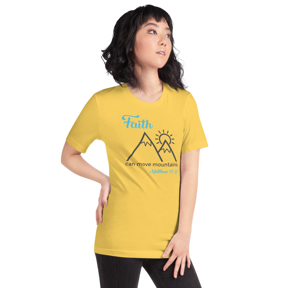 Faith Can Move Mountains Tee - Path Made Clear