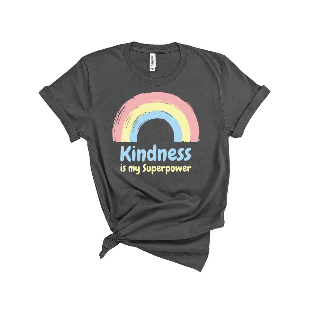 Kindness Is My Superpower T-Shirt Asphalt - Path Made Clear