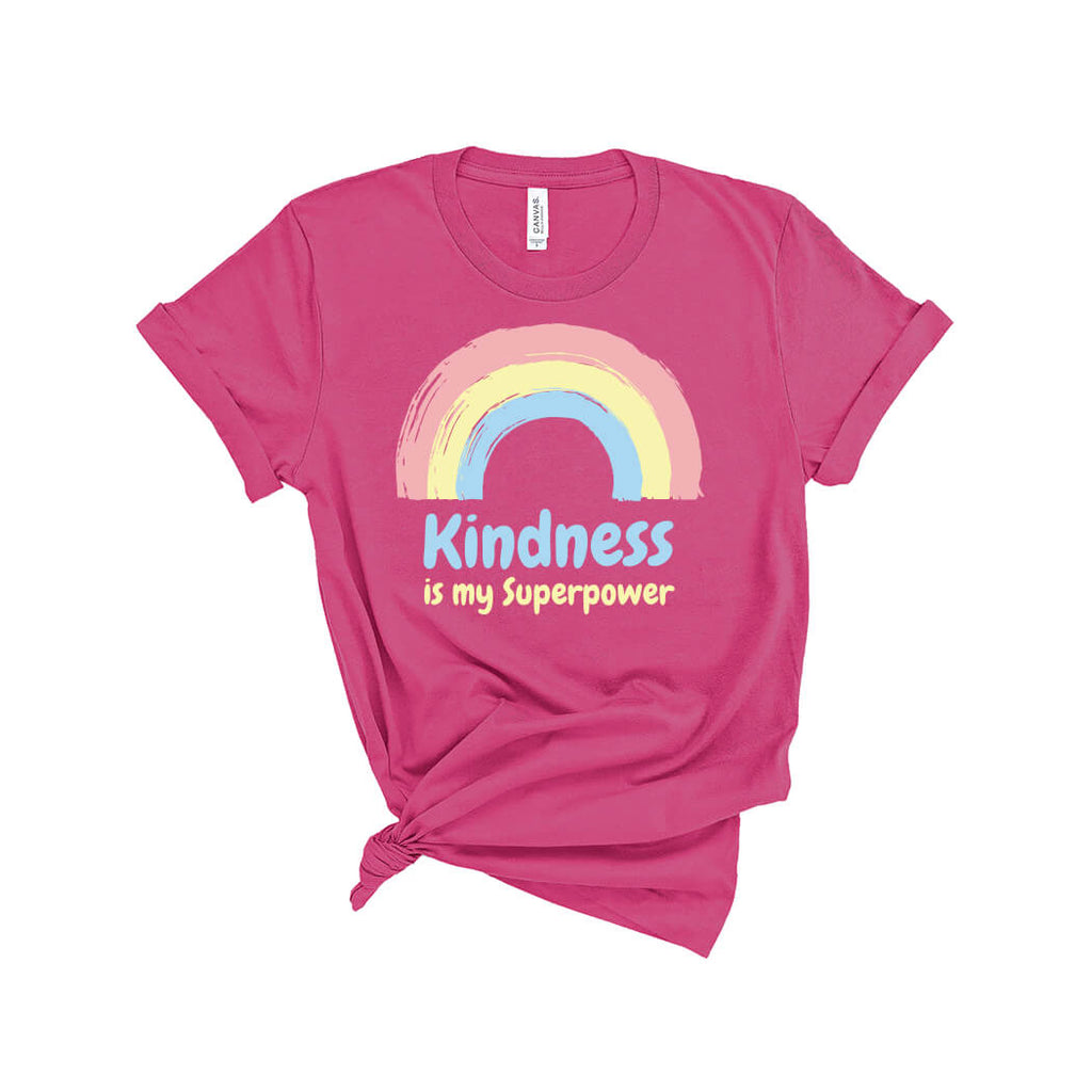 Kindness Is My Superpower T-Shirt Berry - Path Made Clear