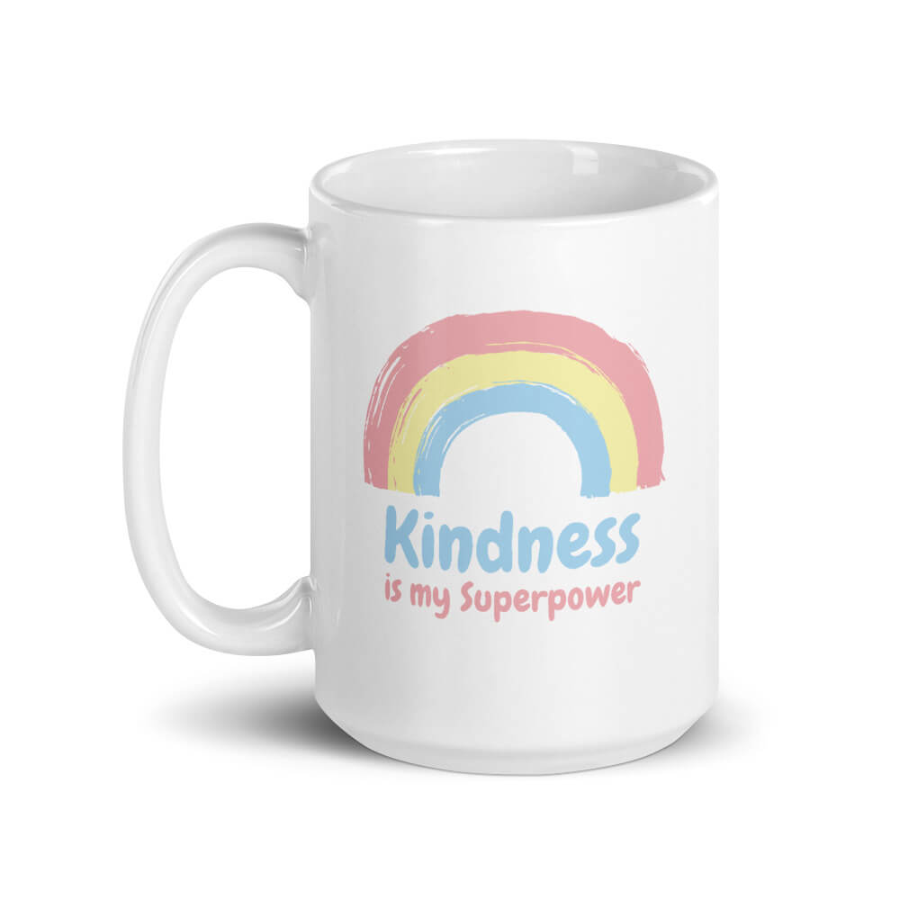 Kindness Is My Superpower Large Mug - Path Made Clear