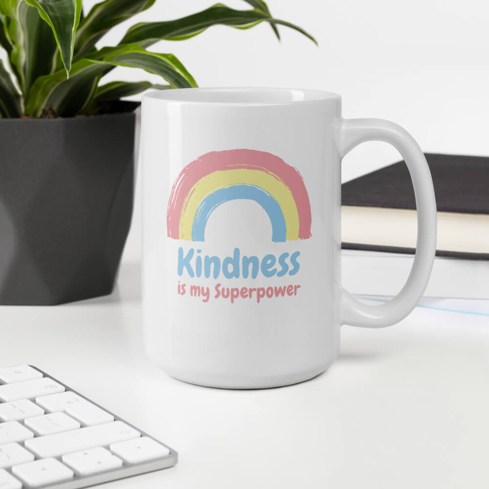 Kindness Is My Superpower Large Coffee Mug - Path Made Clear