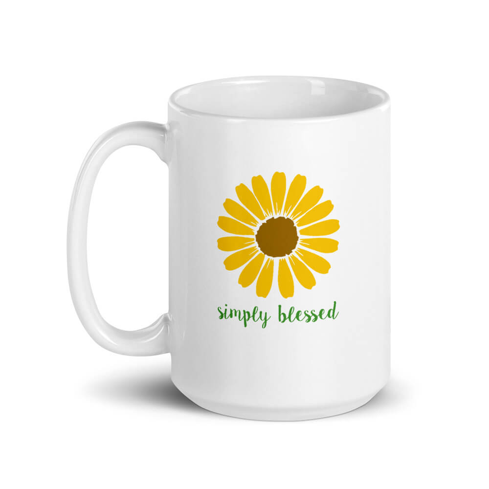 Simply Blessed Large Mug