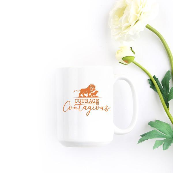 Courage Is Contagious Large Mug - Path Made Clear