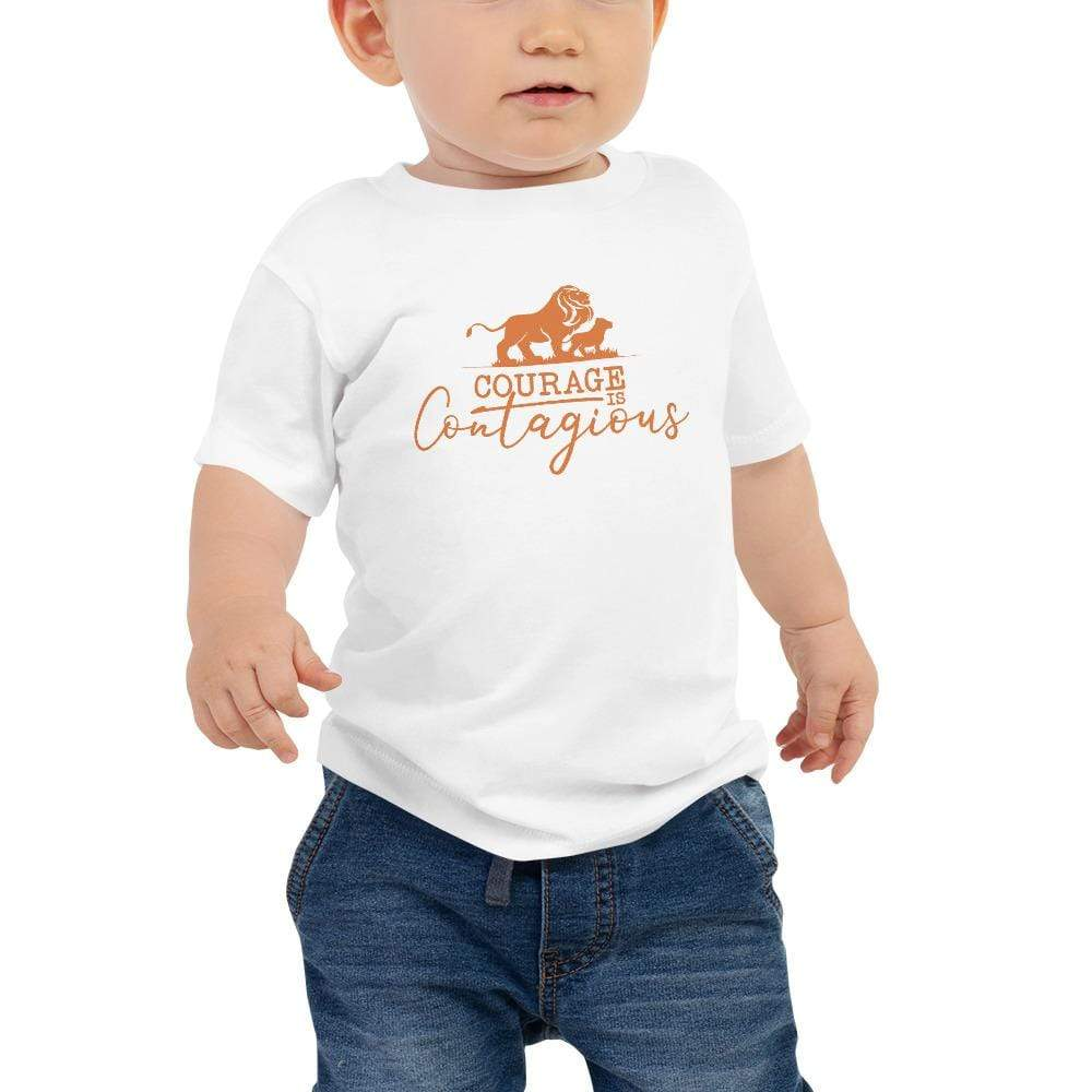 Courage Is Contagious Baby T-Shirt White - Path Made Clear