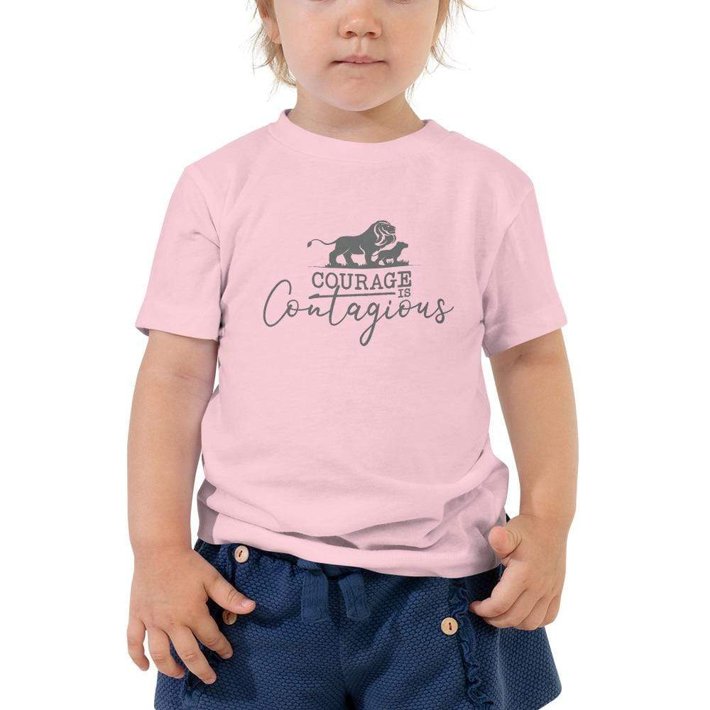 Courage Is Contagious T-Shirt Toddler Pink - Path Made Clear
