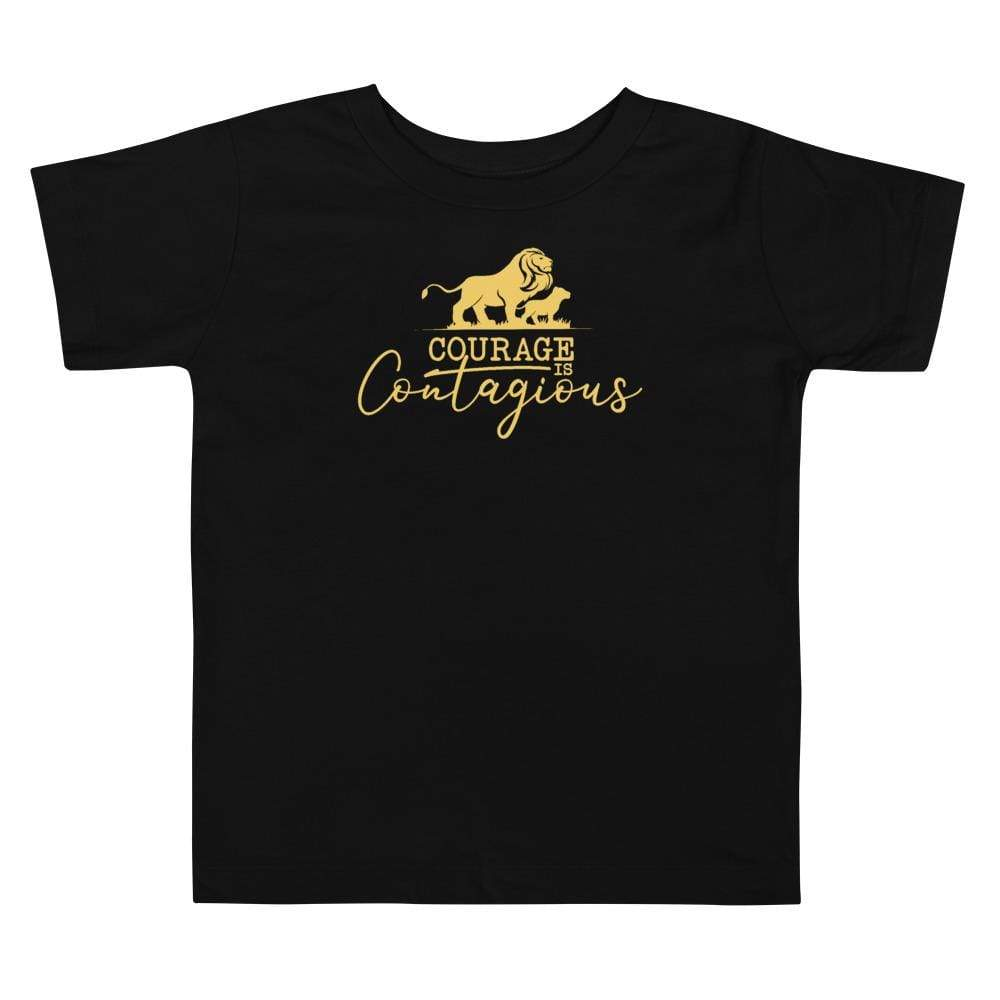 Courage Lion Toddler T-Shirt Black - Path Made Clear
