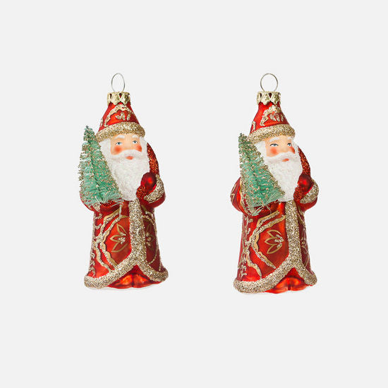 Santa Ornament (Set of 2 w/Gift Box)