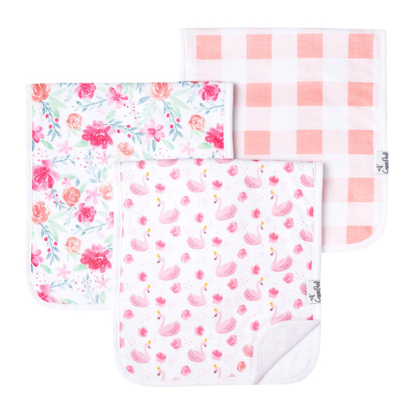 Copper Pearl June Burp Cloths