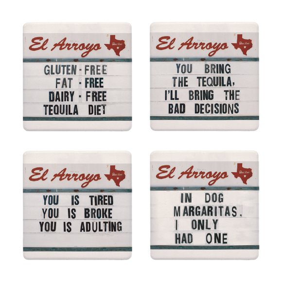 Tequila Diet Coaster Set