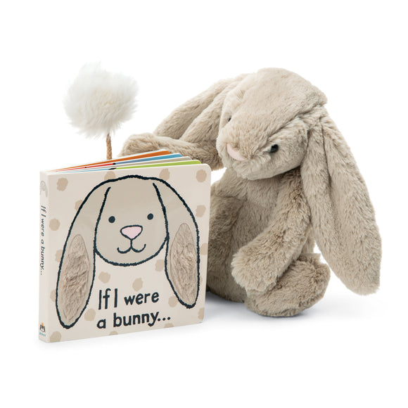 Jellycat If I Were a Bunny Book & Bashful Beige Bunny