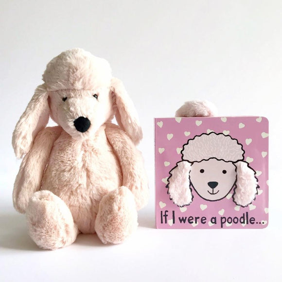 Jellycat If I Were a Poodle Book & Bashful Poodle