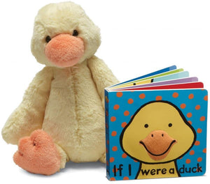 Jellycat If I Were a Duck Book & Bashful Duckling