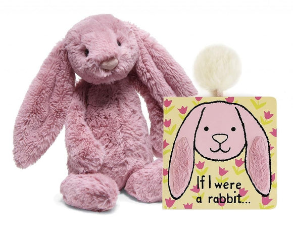 Jellycat If I Were a Rabbit Book & Bashful Pink Bunny