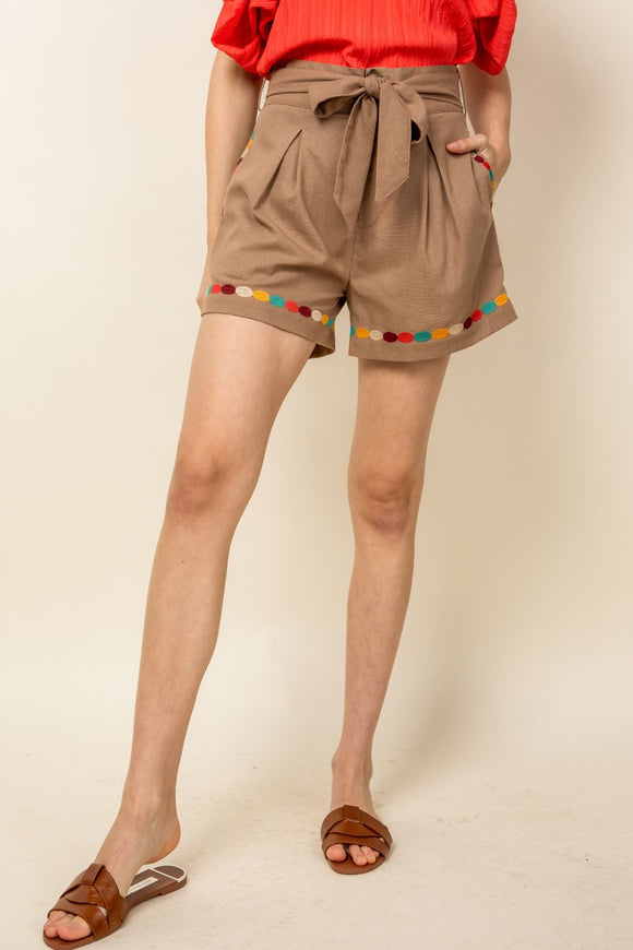 THML Embroidered Shorts