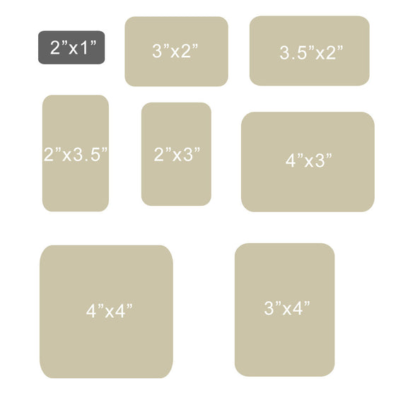 Paper Sheet Stickers-Rounded Rectangle Shape