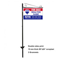 Real Estate Sign Post and Frame -with Graphic Print