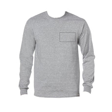 Adult Light Color Long Sleeve Custom Printing