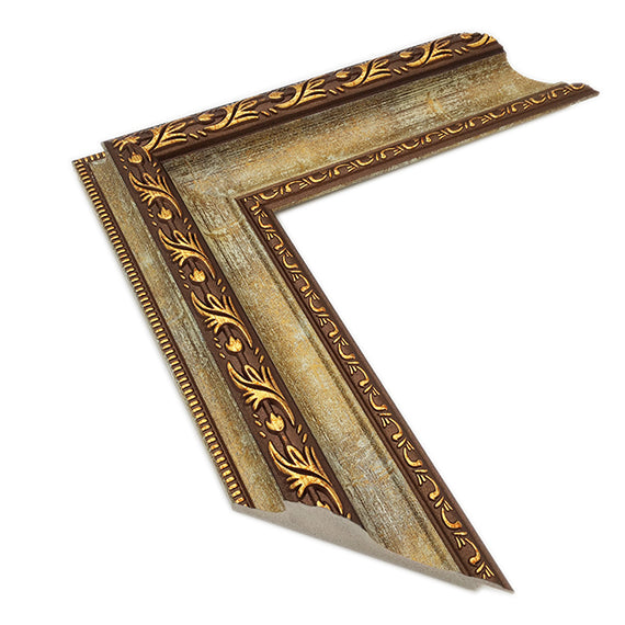 Polystyrene Frame PF003,  ornate brown