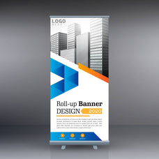 "Retractable Rollup Banner-33.5""x79"""