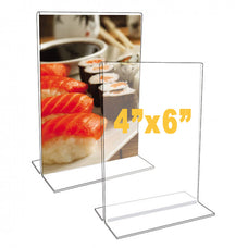T-Base Stand, Acrylic clear, 12 packs