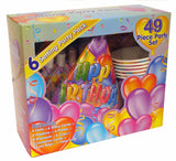 49 PIECE HAPPY BIRTHDAY TABLE  PARTY SET