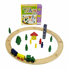 WOODEN TRAIN SET 23 PIECE