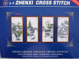 CROSS STITCH KIT MAGNIFICENT 4 PANEL