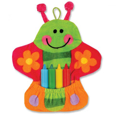 Bath Mitt with Crayons - Butterfly