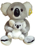 SOFT TOY - KOALA AND BABY 22CM
