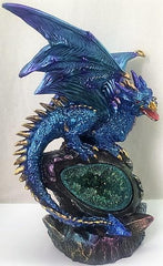 Blue Dragon with LED Crystal