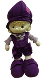 SOFT BOY DOLL PURPLE OUTFIT