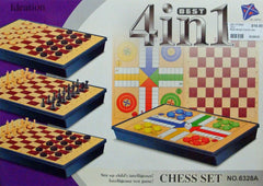 4 IN 1 BOARD GAME SET
