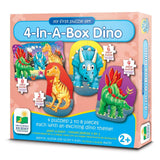 The Learning Journey My First Puzzle Sets 4-In-A-Box Puzzles Dino