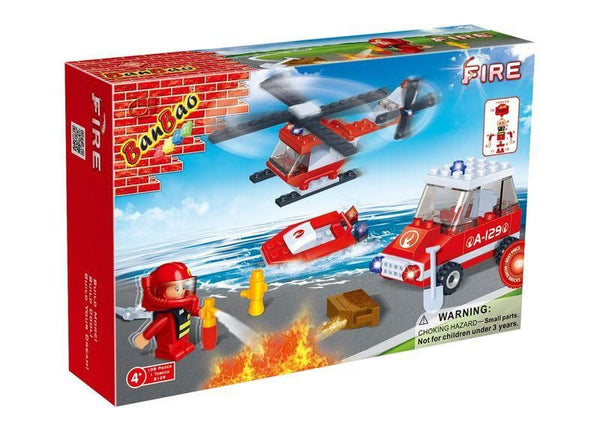playmobil fire fighting helicopter with Banbao Fire Fighting Set 108 Piece 8129 on Coloriage Helicoptere Pompier furthermore B0021ZQP3I further 4825 Firefighters With Water Pump together with 5587 Playmobil Fire Fighting Helicopter furthermore Playmobil City Action Fire Fighting Helicopter 5542.