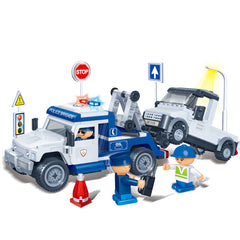 BANBAO POLICE TOW TRUCK 245 PIECE (8345)