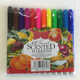 12 fruit scented colour markers