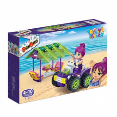 BANBAO TRENDY BEACH QUAD BIKE 110 PIECE (6129)