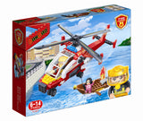 BANBAO FIRE HELICOPTER 191 PIECE (7107)