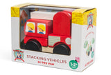 Le Toy Van Stacking Vehicle Fire Truck