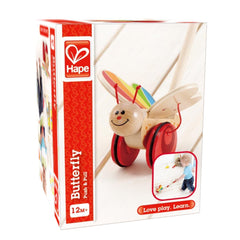 Butterfly Wooden Push and Pull Toy - Hape