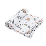 Little Unicorn Cotton Swaddle - Forest Friend
