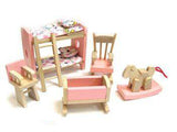DOLLS HOUSE FURNITURE SET - KIDS BEDROOM
